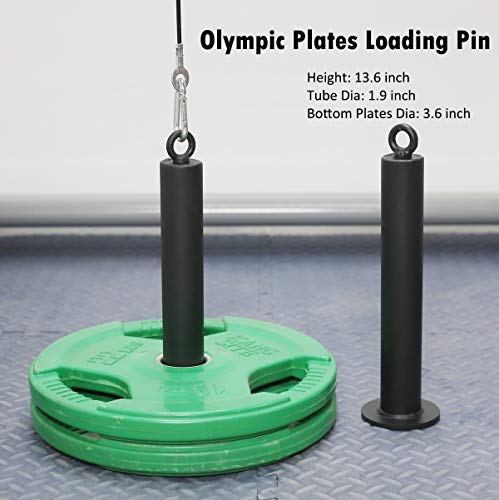 Product Image 5: SYL Fitness LAT Pulldown Cable Pulley System Adjustable Length with Chain Solid Loading Pin for DIY Home Garage Gym (Black: for Olympic Plates)