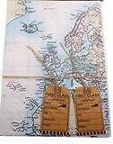 World Map Design Geschenkpapier verpacken Bögen Geschenkpapier und Anhänger, Geschenk zum Geburtstag, Vatertag, Weihnachten Hochzeit