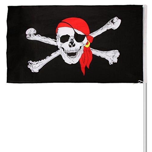 chiwanji Große 5x3ft 90x150cm Piratenflagge Piratenflagge Baumhaus Hängen Zubehör
