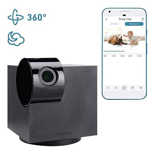 HD Überwachsungskamera von PetTec WiFi 360° schwenkbar mit Bewegungserkennung & Geräuscherkennung Nachtsicht volle Kontrolle über Mobile App für Baby, Haustier & Wohnung/Haus