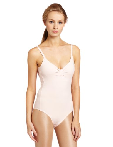 Danskin Women's Camisole Leotard, Theatrical Pink, Large