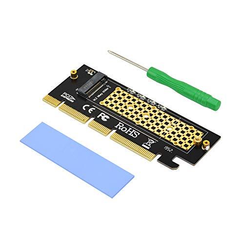 ADWITS M.2 KEY M NVME e AHCI SSD a PCIe 4x scheda adattatore 8x 16x, compatibile con Samsung 960 970 EVO PRO WD nero e altro
