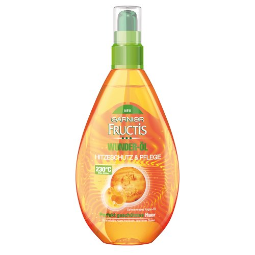 Garnier Fructis Wunder-Öl Hitzeschutz & Pflege, 1er Pack (1 x 150 ml)