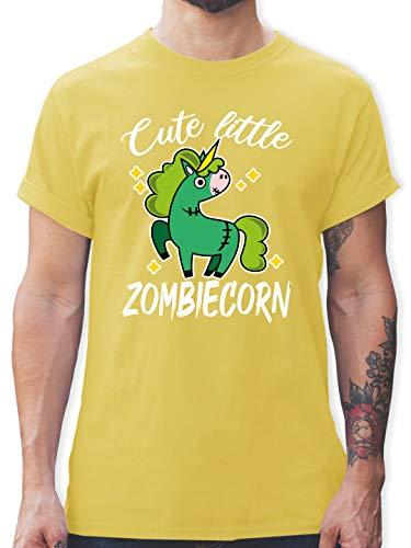 Halloween - Cute Little Zombiecorn - weiß - M - Lemon Gelb - Zombies - L190 - Tshirt Herren und Männer T-Shirts