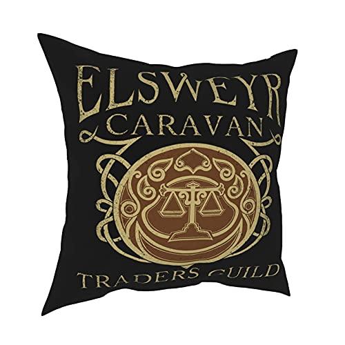DRXX Elsweyr Traders Guild - Camisetas y Sudaderas con Capucha Racerback Tank Top Funda de Almohada Moda Funda de Almohada Cuadrada Decoración Throw Pillow Cover 18 X 18 Inch 45 X 45 cm