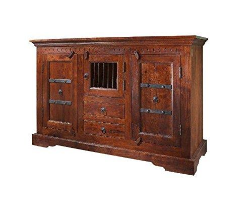 MASSIVMOEBEL24.DE Koloniale Kommode Akazie massiv Holz Oxford #412