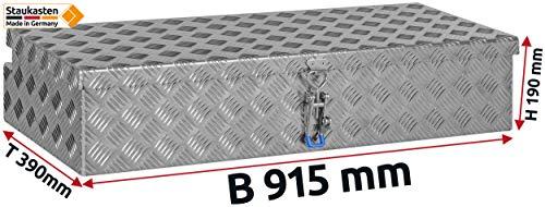 """Deichselbox, Premium, aus Alu Riffelblech 2,5/4 mm, Staubox, Truckbox, Werkzeugkasten, Gurtkiste, B 914 x H 190 x T 387 mm Inhalt: ca. 65 Ltr.""""Made in Germany"""" - 2"""