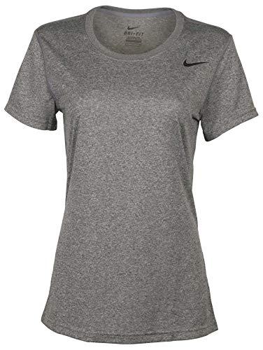 Nike Women Short Sleeve Legend Tee (Small, Grey)