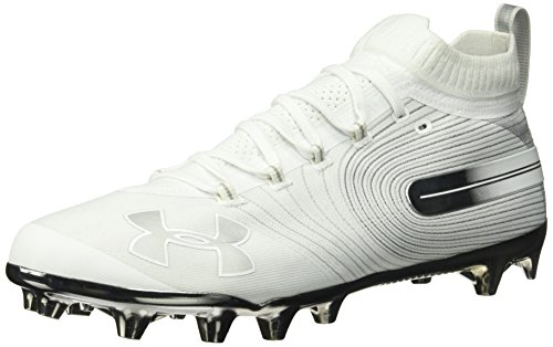 Under Armour Men's Spotlight MC Lacrosse Shoe, White (100)/White, 13