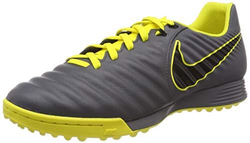 Nike Herren Legendx 7 Academy Tf Fußballschuhe, Grau (Dark Grey/Black/Opti Yellow 070), 43 EU