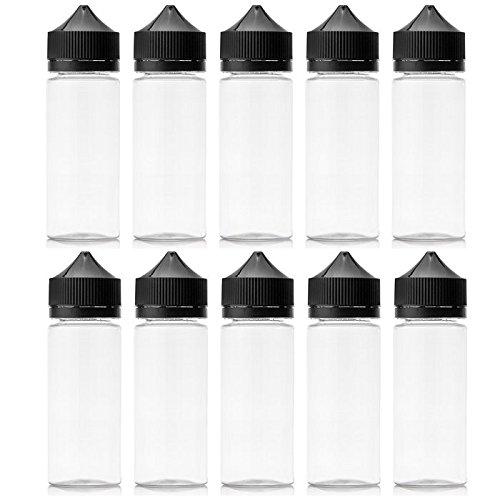Gorilla Lot de 5 flacons de liquidation en PET liquide pour bouteille de biberons à cigarettes électroniques 15/30/50/60/100/120 ml