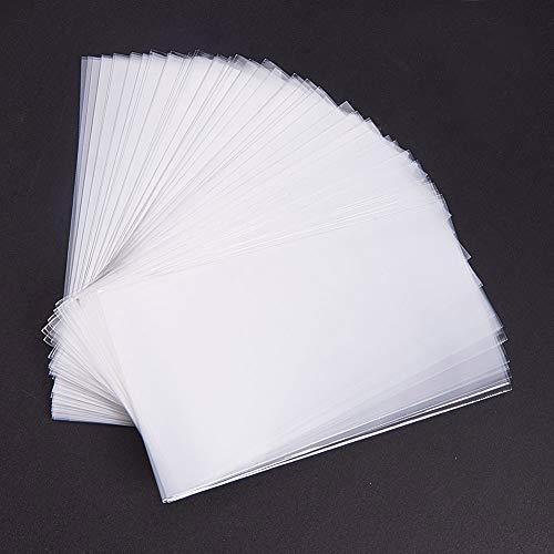 Pandahall Elite 600 Bolsas de celofán de 12 x 7 cm, Transparente, Bolsas para Joyas Galletas Pastelería, Rectángulare, Aprox. 600 Unidades/Bolsa