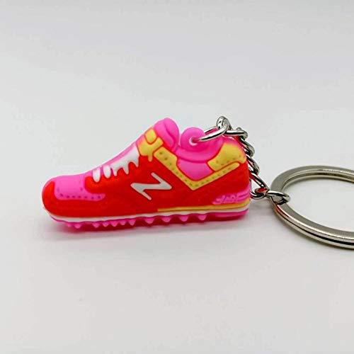 ZXCVB Mini Basketball Schuhe Schlüsselbund Cartoon PVC Sportschuhe Schlüsselbund Männer und Frauen Schultaschen Autozubehör Schlüsselbund