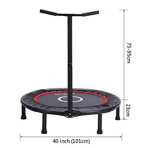 Trampolines Mini Huishoudelijke Vouwen, Kinder/Volwassenen Fitness Bouncing Bed Voor Outdoor/Binnen/Tuin (Diameter 40inch)
