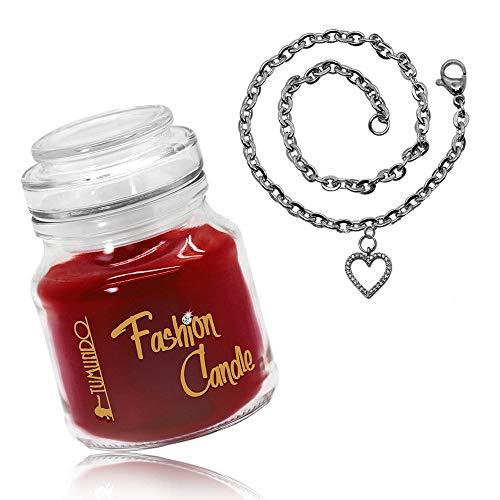 tumundo Schmuck-Kerze Adventskerze Fashion Candle Armband Damen Herz Kirsche Anker Schnee-Flocke Weihnachten, Variante:Variante 5