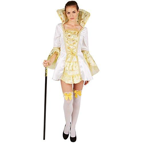 TecTake dressforfun Costume da Donna - Imperatrice | Abito Incantevole e Molto Elegante | con Calze Sexy Fino al Ginocchio (S | No. 301374)