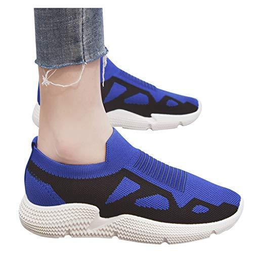 Zapatillas Zapatillas de Mujer Deporte Planas de Malla Transpirable Zapatos Casuales de Zapatos de Malla Aire Libre para Mujer Slip Casual en Suelas cómodas Running Deportivos