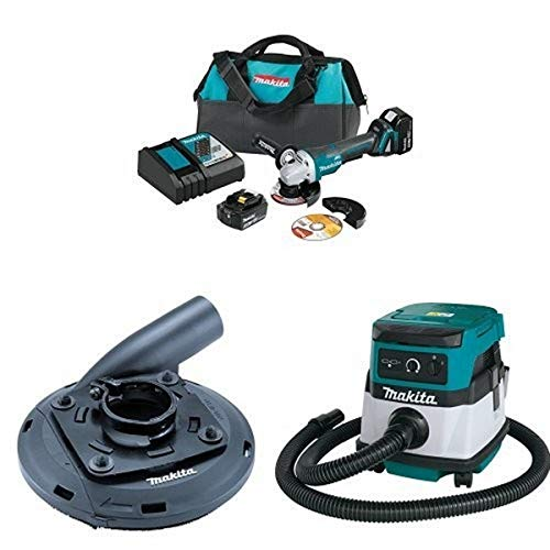 Amazing Deal Makita XAG11T 18V LXT Brushless 4-1/2-Inch - 5-Inch Cut-Off/Angle Grinder Kit, 195236-5...