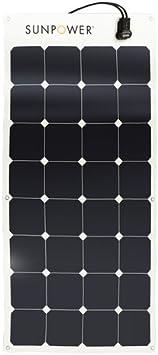 SunPower Flexible 100 Watt Monocrystalline Solar Panel