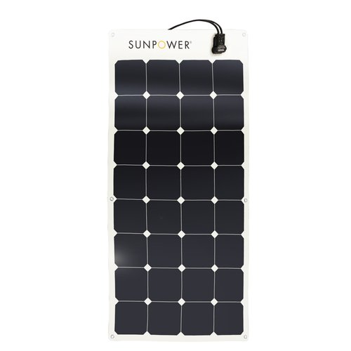 SunPower Flexible 100 Watt Monocrystalline Solar Panel