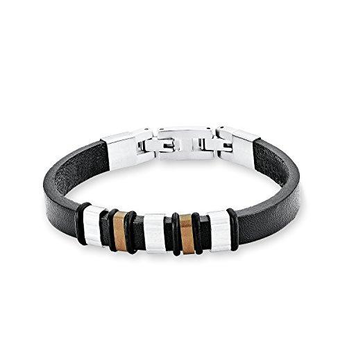 s.Oliver Kinder-Armband Edelstahl Leder 20 cm - 524810