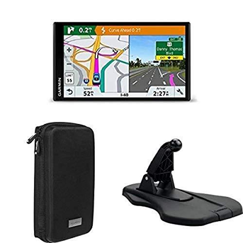 Garmin DriveSmart 61 NA LMT-S with Lifetime Maps+AmazonBasics Universal Travel Case+Garmin Portable Friction Dashboard Mount
