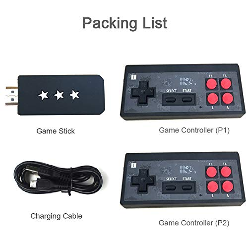 Video Game Console for a 4K TV, Built in 621 Classic Games,Mini Retro Console Wireless Controller