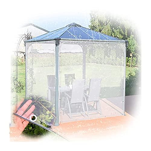 PENGFEI - Lona transparente de PVC grueso, resistente a la lluvia para invernaderos de camping, toldo antienvejecimiento, 0,3 mm de grosor (color: transparente, tamaño: 1,8 x 4 m)