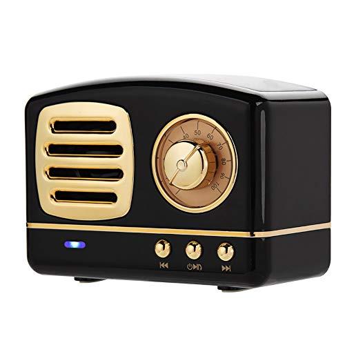 YOUTHINK Vintage Speaker, Mini Bluetooth Wireless Retro Speaker Portable Subwoofer Music Player,Best Gift for Family Friends Lover (Black)