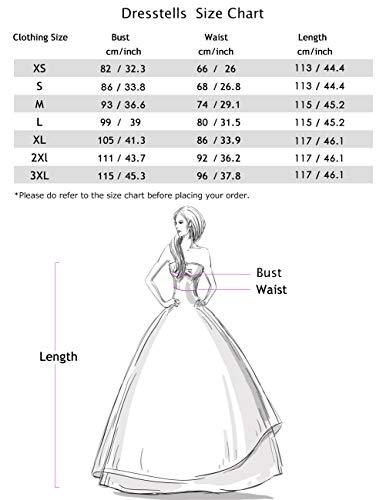 Dresstells Damen 1950er Midi Rockabilly Kleid Vintage V-Ausschnitt Cocktailkleid Faltenrock Raspberry XL - 4