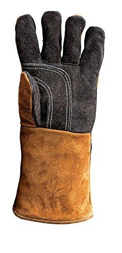 Kamin- & Grillhandschuhe, Hitzeschutz, aus echtem Leder, Left-Hand Glove