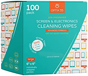 Screen & Electronic Cleaning Wipes, 100 Pre-Moistened Individual Wrapped (6″ x 6″) TV Screen Cleaner, Computer Monitor, Laptop, Lens Wipes, Monitor, Tablet, Safe for All Screens | Streak-Free
