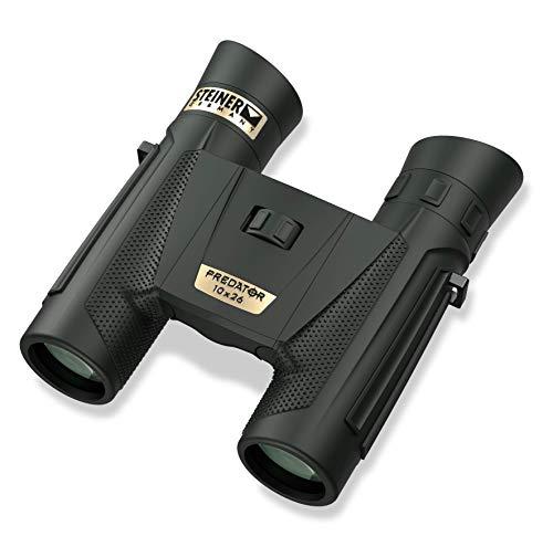 Steiner Optics Fernglas Predator Serie - wasserdichte und beschlagfreie Optik für Jagd und Schießen, Unisex-Erwachsene, Predator, schwarz, 10x26