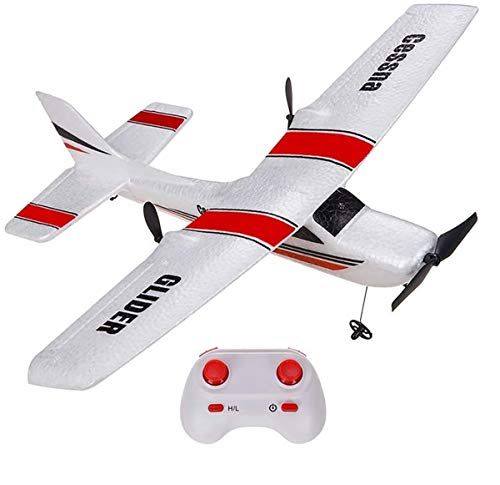 OTTCCTOY RTF RC Plane, Remote Control Airplane RC Plane with 2.4GHz 2 Chanel Control Plane Easy to Fly for Beginners Wingspan 350mm (RED)
