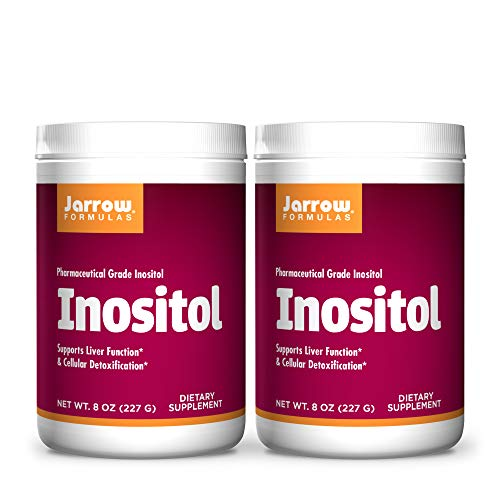 Jarrow Formulas Inositol 8 oz Powder, Pack of 2 - Liver Support - Useful for Mental Health & Sleep - Functions in Nerve Signaling, Glucose + Fat Metabolism & Calcium Balance - 756 Total Servings