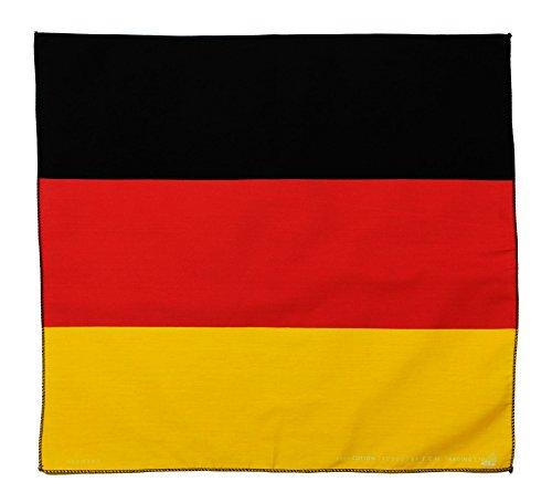 Tuch Serviette Drapeau de l'Allemagne Germany Bandana Foulard env. 51 x 51 cm Imprimé d'un Seul côté