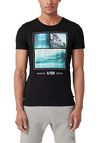 Q/S designed by - s.Oliver Herren 47.906.32.5275 T-Shirt, Schwarz (Black 9999), M