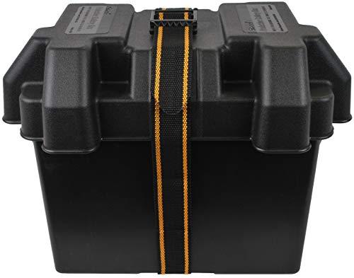 Attwood 9069-1 Standard Acid-Resistant Series 24 Non-Vented Marine Boat Battery Box, Black