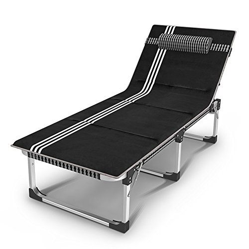 Fauteuils inclinables Feifei Fauteuils pliants d'été Chaises Longues Lit Pliant Bed Aluminium Alloy Tube Hiver Bureau Siesta Lit Lit Simple Camp Bed Pliant (Couleur : B)