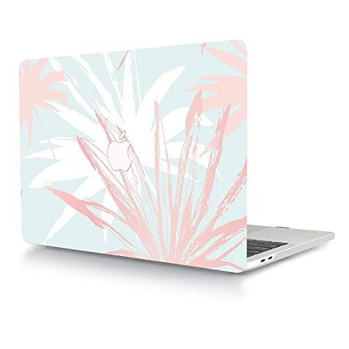 AJYX - Funda rígida de plástico solo compatible con MacBook Pro de 13 pulgadas (modelo: A1278, con CD-ROM) Release 2012/2011/2010/2009/2008, diseño de hojas rosas y blancas