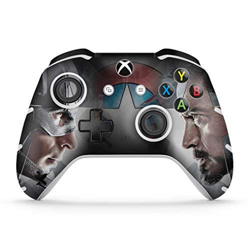 Skin Adesivo para Xbox One Slim X Controle - Capitão America - Guerra Civil