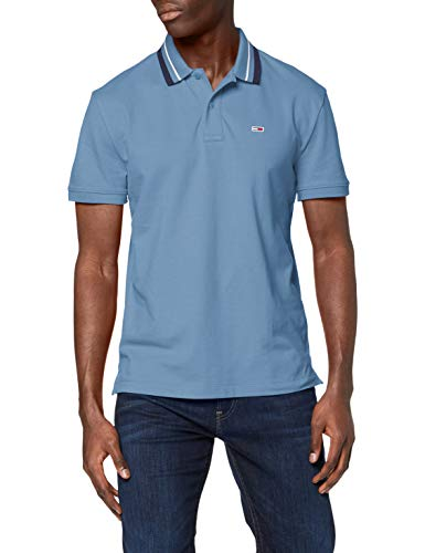 Tommy Jeans TJM Classics Tipped Stretch Polo Chemise, Denim Vintage 329-440, S Homme