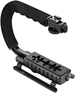 SIZOO - Photo Studio Accessories - U-Grip Triple Shoe Mount Video Action Stabilizing Handle Grip Rig for for iPhone 8 X Sm...