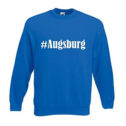 Reifen-Markt Sweatshirt Damen #Augsburg Größe M Farbe Blau Druck Weiss