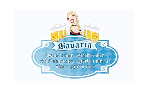 Bier Bavaria drinkspreuk vlag (V25) - 90x150cm