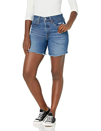 Levi's Women's Premium 501 Mid Thigh Short, Sansome Avenue, 29 (US 8)