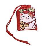 Garneck 2 Piezas de Amuleto Japonés Omamori Amuleto de La Suerte para La Salud Riqueza Educación Amor Seguridad
