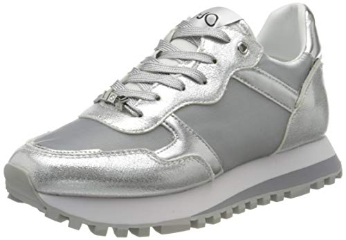 Liu Jo Shoes Liu Jo Wonder 2.0, Scarpe da Ginnastica Basse Donna, Argento (Silver 00532), 38 EU