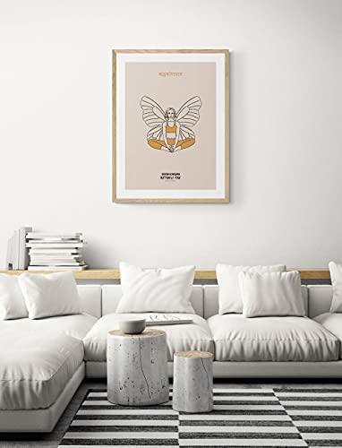 MG global Yoga Butterfly Pose Minimalist Art, DESCARGAR INSTANTE Sankrit Baddha Konasana Meditación Yoga Lover Art, Regalo para amigos, familia, Decoración del hogar Arte de pared sin marco