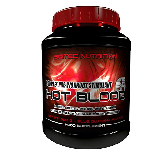 Scitec Nutrition Hot Blood 3.0 fórmula pre entrenamiento Blue guaraná 820 g